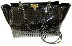 Valentino Rockstud Black Tote Bag $3,660