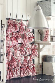 cute Advent countdown bags