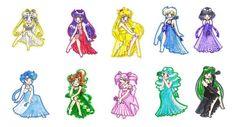 Chibi Princess Senshi - Sailor Senshi Fan Art (6594005) - Fanpop