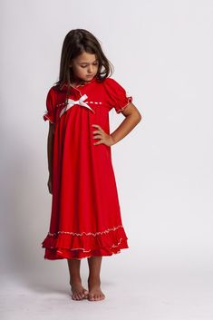 Clara Christmas gown in Red nothing such so sweeter than a lil girl in a  Christmas 640004759