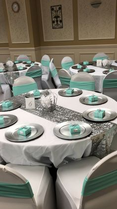 Perceptive Won Quinceanera Party Themes Buy Now. Informations About Perceptive won quince Tiffany Blue Party, Tiffany Birthday Party, Tiffany Blue Weddings, Tiffany Theme, Tiffany Wedding, Aqua Blue Weddings, Teal And Grey Wedding, Teal Party, Quince Decorations