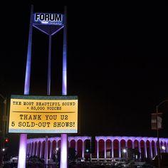 Thanks from @U2 to @theforum & staff for an incredible run... #FabulousForum #U2inLA #U2Forum #U2ieTour