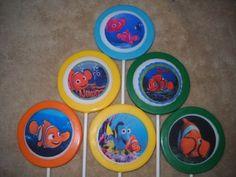 "1 chocolate edible decal 3"" nemo dory shark turtle lollipops lollipop   sapphirechocolates - Edibles on ArtFire"
