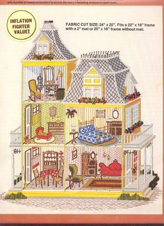 Image result for dollhouse cross stitch