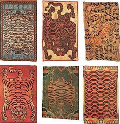 7 Nature Themes to Look for in Oriental Rugs Diy Carpet, Magic Carpet, Rugs On Carpet, Carpet Decor, Carpet Ideas, Tiger Rug, Tibetan Rugs, Textiles, Stair Rugs
