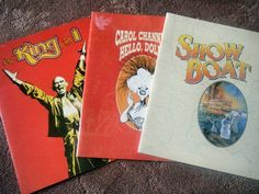 [DISCOUNT] $9.99 Three (3) Vintage Broadway Musical Programs NYC Hello Dolly, Show Boat, King & I #Theater_Posters_for_Sale #Theatre_Memorabilia_for_Sale #Movie_Posters_for_Sale Movie Posters For Sale, Show Boat, Hello Dolly, Theater, Musicals, Broadway, Nyc, King, Vintage