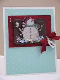 Cute Snowman card!   Stampin' Up!