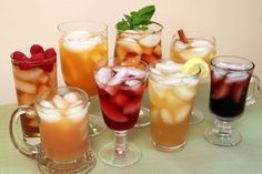 11 Easy Flavored Iced Tea Recipes - Create endless varieties using jams, juices, spices, herbs and extracts. www.theyummylife.com/Flavored_Iced_Tea_Recipes