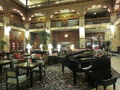 Piano in the Brown Palace lobby   Flickr - Photo Sharing!