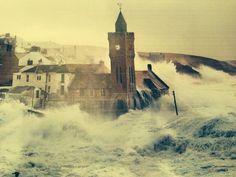 Porthleven, Cornwall, storm, February 2014