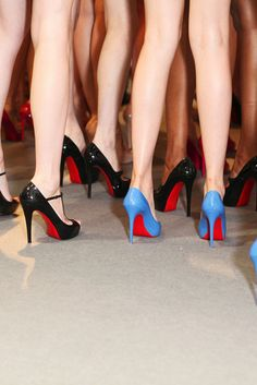 louboutins backstage at cacharel ss12 #shoeporn #actionshot