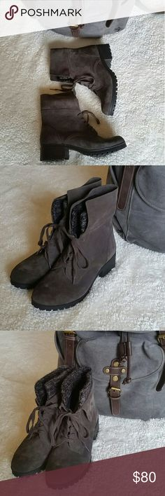 Lucky Brand suede Heylie boots NWT! These are amazing and you can truly wear them two ways. The color is a rich taupe gray that will go with evvvverything. Just be honest with yourself, you need these girls to come live with you. Lucky Brand Shoes Ankle Boots & Booties