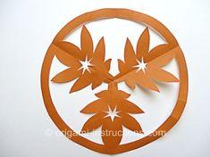 Kirigami Maple Leaves