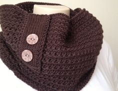 DIGITAL PDF PATTERN - Knit yourself this Cowl - The Chocolate Cowl - Knitting Cowl Infinity Scarf Knit Pattern Brown Chocolate