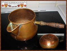 Nice old Copper Pot with Wood Handle