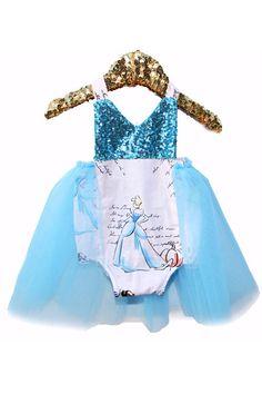 A Princess Story Blue Sparkle Tutu Romper #bellethreadspinterest