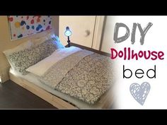 DIY craft: barbie doll bed - YouTube