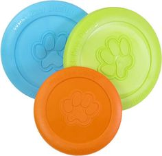 West Paw Zisc - Soft and Flexible Dog Frisbee-Available in two sizes & Three Colors-$14.95 | www.activedogtoys.com #fun_toy #dog_usa_toys