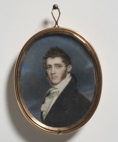 Portrait of Robert Maskell Patterson, M.D. - Benjamin Trott, American, c. 1770 - 1843 - Date: c. 1807, Watercolor on ivory; gold case; glass, pearls, human hair, Dimensions: 3 1/4 x 2 3/4 inches (8.3 x 7 cm)