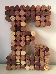 Bouchon de vin lettres E O C T K par HookWineAndSinkerCo sur Etsy