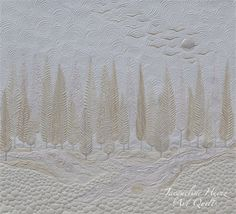Jacqueline Heinz : Quilts - Am Meer Free Motion Embroidery, Free Motion Quilting, Longarm Quilting, Machine Quilting Designs, Quilting Projects, Small Quilts, Mini Quilts, Landscape Art Quilts, Whole Cloth Quilts