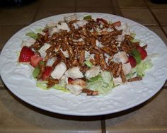 Grilled Chicken Salad with Kiwi & Strawberries