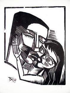 Karl Schmidt-Rottluff: Holzschnitte (1918) from original portfolio containing 9 woodcuts