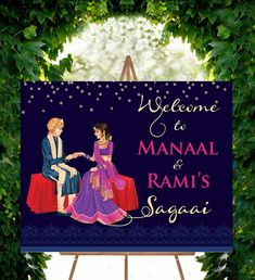 Engagement Party Themes, Engagement Signs, Indian Engagement, Engagement Party Decorations, Indian Wedding Decorations, Wedding Engagement, Backdrop Decorations, Engagement Ideas, Wedding Themes