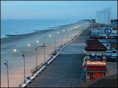 Take a stroll on the boardwalk in Rehoboth Beach, Delaware.