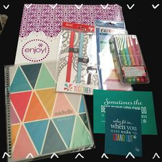 You know it's a good day when you see a package from #erincondren on your doorstep! And best yet I bought all this stuff for 12 dollars! I'm so excited to start using my new planner. Does anyone use the life planner? What's your favorite ? #happybirthday and #merrychristmas to me ❤️ @michellebradley05