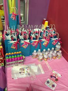 Shopkins Birthday Party Water Bottles