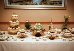 HomeMade CakeStands by Bride, CupCake & details by @ArtsyBaker_, cupcakes by my cousin Lucy, Aunt Jo and I #MadeWithLove #OurWedding <3 #LoveIsInTheAir #Weddingbells  english-country-garden-wedding english-country-garden-wedding-dessert-bar