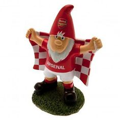 #Arsenal fc #resin #garden gnome holding flag 20cm tall,  View more on the LINK: 	http://www.zeppy.io/product/gb/2/291833079453/