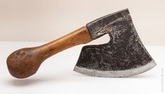 French Sabotier's Single Bevel Side Axe Signed BUJON Great original handle. 14 inches long. Nine inch edge. $325.00
