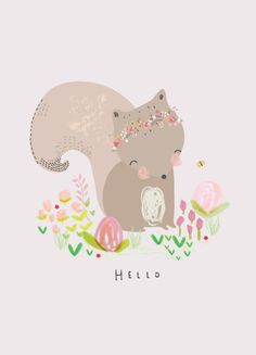 Aless Baylis for Petite Louise  #illustration #squirrel #poster #postcard #print