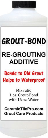 GROUT - BOND 4 oz. Epoxy Grout Repair Kit 6 oz. Fixes all types of grout cracks permanently. $13.49 plus shipping