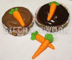 Cupcake de cenoura com brigadeiro