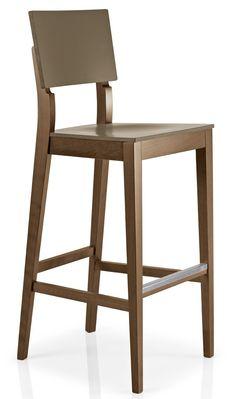 Taburete alto de madera BALIN para barras de bares y hostelería - Ingenia Contract