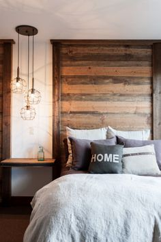 Modern Rustic Bedroom Inspiration | upcycledtreasures.com
