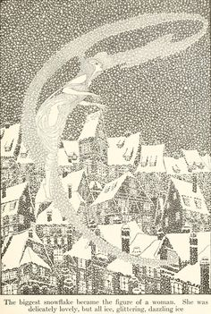 Fairy Tales From Hans Christian Andersen (1914) Illustrations by Dugald Stewart Walker. 'The Snow Queen'