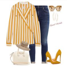 Outfits With Hats, Classy Outfits, Casual Outfits, Fashion Addict, Passion For Fashion, Style Me, Stripes, Street Style, Polyvore
