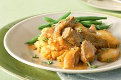 Slow cooked beef with sweet potato mash - Diabetic friendly, diary and gluten free.