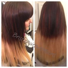 Microrings wefts ombre coldmethod