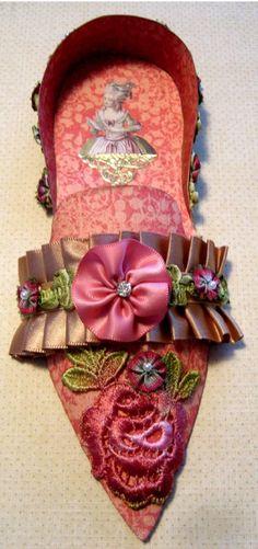 Marie Antoinette Altered Art Paper Shoes -- http://www.etsy.com/people/terrigordon