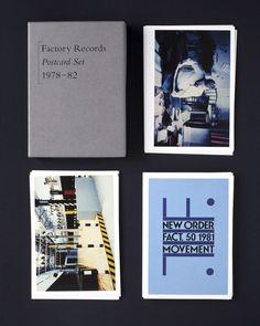Factory Records Postcard Set - Peter Saville