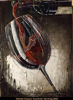 Original multi-media painting on canvas by Nathalie Chiasson. Nathalie Chiasson original acrylic painting on canvas #nathaliechiasson #art #artist #canadianartist #quebecartist #originalpainting #acrylicpainting #wine #multiartltee