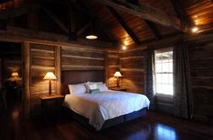German cabin restoration lovely bed and breakfast in Australia Timber Cabin, Timber Frame Homes, Holiday Accommodation, Luxury Accommodation, Luxury Cabin, Bedroom Photos, Farm Stay, Holiday Places, Kabine