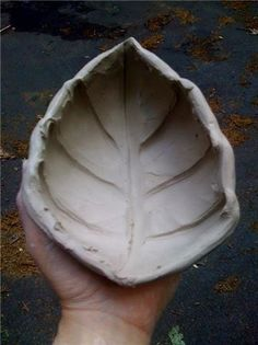 Porcelain Ceramic Bowl, Vessel, Leaf, Organic, Wet, just started, NOT finished, Pinched, Pinch pot | Flickr – 相片分享!