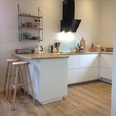 Voxtorp Kitchen - Fresh Voxtorp Kitchen , New Kitchen Fronts at Ikea Voxtorp Comes In Beige White and A Dark Ikea Kitchen, Kitchen Tiles, Kitchen Flooring, Kitchen Decor, Kitchen Design, Grey Kitchens, Cool Kitchens, Voxtorp Ikea, Dining Nook