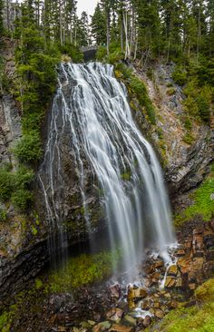 Beautiful Narada Falls, Mt Rainier National Park. I love these falls. They were so awesome. by Tommy Farnsworth, via 500px